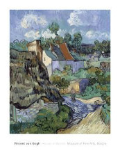 Houses At Auvers poster print by Vincent van Gogh