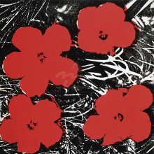Flowers (Red), 1964 poster print by Andy Warhol
