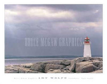 Lighthouse, Nova Scotia poster print by Art Wolfe