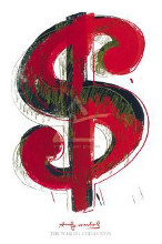 Dollar Sign, 1981 poster print by Andy Warhol