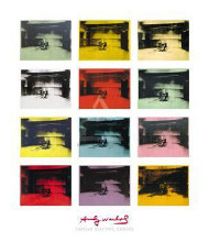 Twelve Electric Chairs, 196465 poster print by Andy Warhol