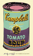 Campbell's Soup Can, 1965 (Green Purpl poster print by Andy Warhol