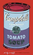 Campbell's Soup Can, 1965 (Blue Purple poster print by Andy Warhol