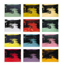 Twelve Electric Chairs, 196465 (Giclee) poster print by Andy Warhol
