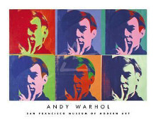 Set Of Six Self-Portraits, 1967 poster print by Andy Warhol