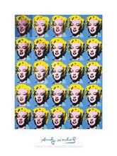 Twenty-Five Colored Marilyns, 1962 poster print by Andy Warhol