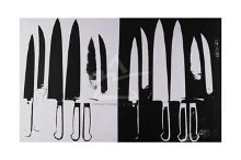 Knives, C 1981-82 (Giclee) (Silver And poster print by Andy Warhol