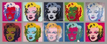 Ten Marilyns, 1967 poster print by Andy Warhol