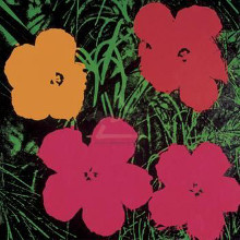 Flowers, 1964 (1 Red, 1 Yellow, 2 Pink) poster print by Andy Warhol