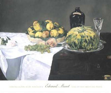 Still Life with Melons and Peaches poster print