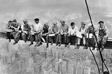 Lunch on a Skyscraper poster print by Charles C. Ebbets