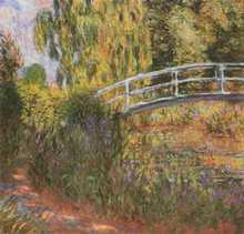 Japanese Footbridge poster print by Claude Monet