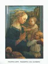 Madonna With Child And Two Angels poster print by Filippo Lippi