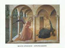 Annunciation poster print by Fra Angelico