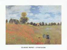 Field of Poppies poster print by Claude Monet