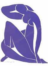 Blue Nude II poster print by Henri Matisse