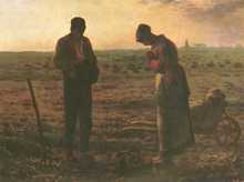 Angelus 1859 poster print by Jean Francois Millet