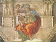 Delphic Sibyl poster print by  Michelangelo