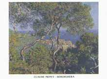 Bordighera poster print by Claude Monet