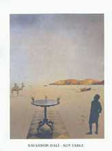 Sun Table poster print by Salvador Dali