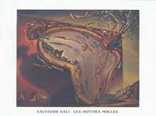 Soft Watch-Moment of First Explosion poster print by Salvador Dali