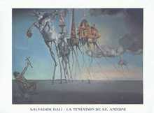 Temptation of St.Anthony poster print by Salvador Dali