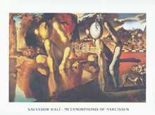 Metamorphosis of Narcissus poster print by Salvador Dali