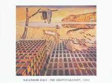 Disintegration of Persistence of Memory poster print by Salvador Dali