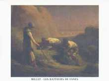 Threshers poster print by Jean Francois Millet