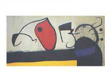 Woman with Three Hairs poster print by Joan Miro