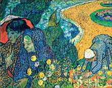 Due Donne Paessagio poster print by Vincent van Gogh