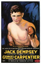 Jack Dempsey Vs Georges Carpenter poster print by  Entertainment Poster