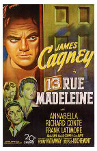 13 Rue Madeleine poster print by  Entertainment Poster