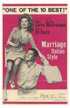 Marriage Italian Style poster print by  Entertainment Poster
