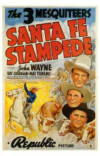 Santa Fe Stampede poster print by  Entertainment Poster