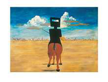 Ned Kelly 1946 poster print by Sidney Nolan