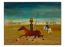The Chase 1946 poster print by Sidney Nolan