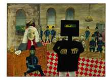 The Trial 1947 poster print by Sidney Nolan