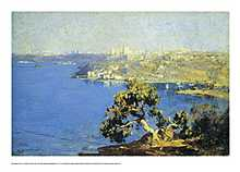 The harbour from Kurraba poster print by Arthur Streeton