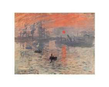 Impression, Rising Sun poster print by Claude Monet