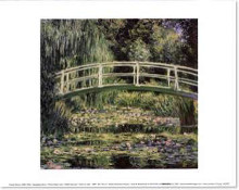 Nympheas Blancs poster print by Claude Monet