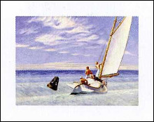 Houle poster print by Edward Hopper