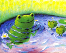 Frogs poster print by Christopher Gunson
