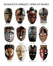 African Masks poster print by  Atelier Nouvelles Images
