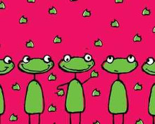 Frogs poster print by  Unknown