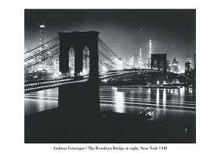 Brooklyn Bridge At Night poster print by  Unknown