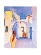 View On An Alley poster print by Auguste Macke