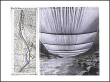 Over the River-Proj. for the Arkansas poster print by  Christo