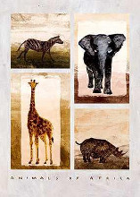 Animals Of Africa poster print by  Unknown