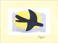 Blue and Yellow Bird poster print by Georges Braque